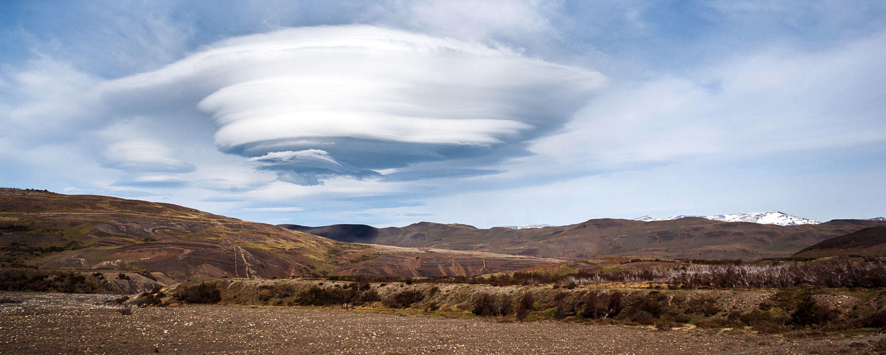 A lenticular cloud over Patagonia.