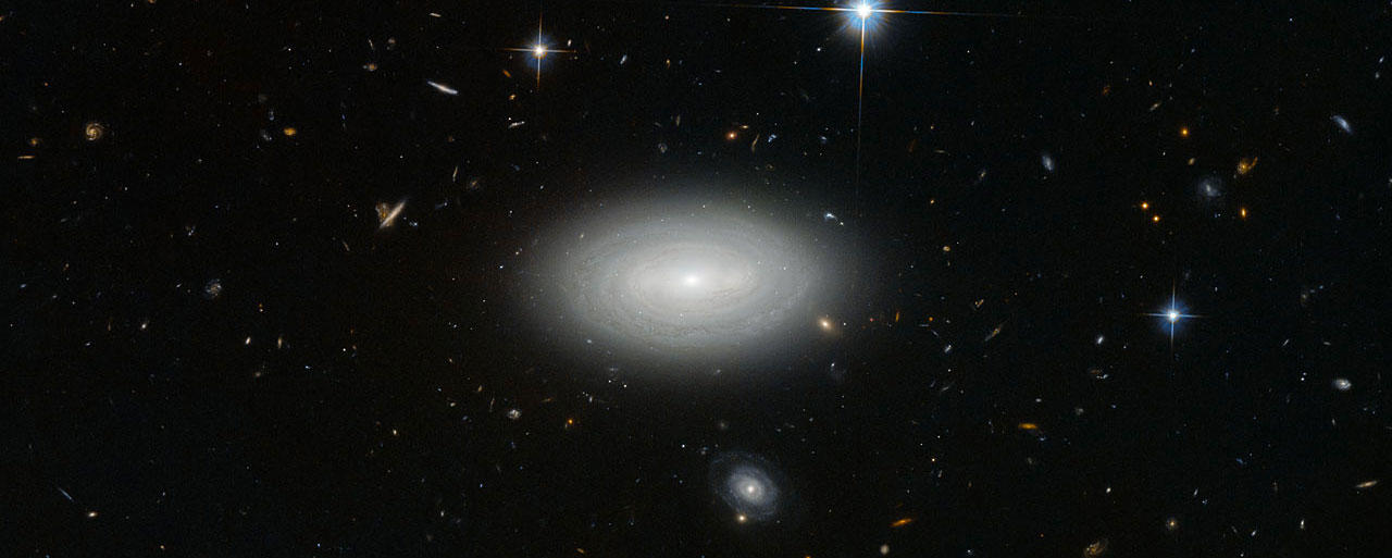 Hubble's lonely galaxy