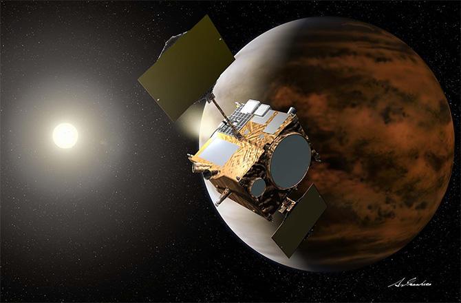 Akatsuki spacecraft and Venus