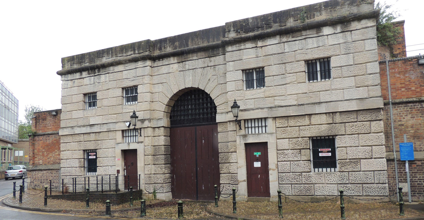 The front gate of HM Prison Gloucester earlier this year.