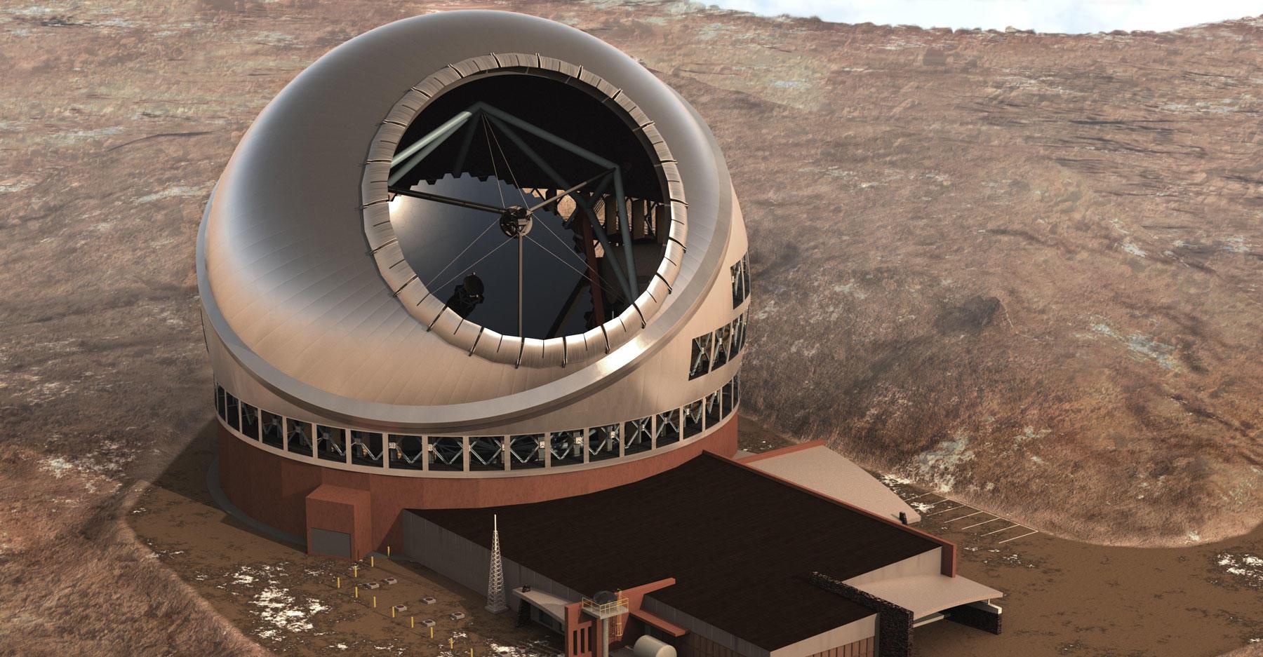 Thirty Meter Telescope rendering