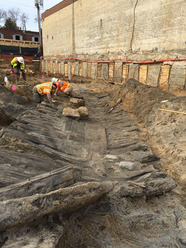 Historic shipwreck remains
