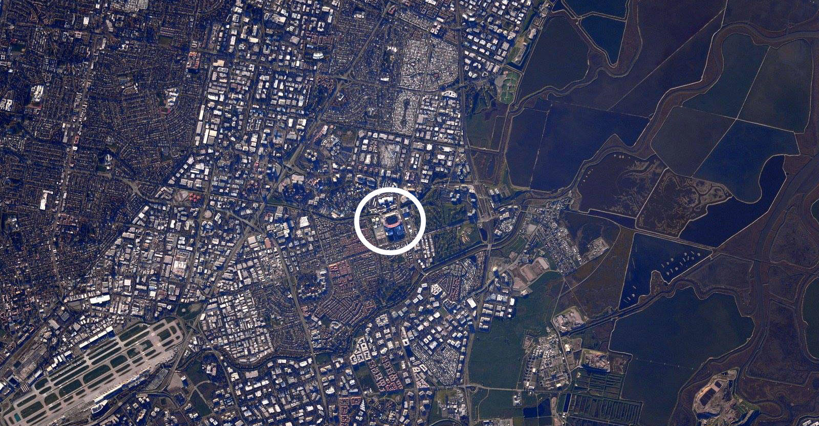 Levi's Stadium from space