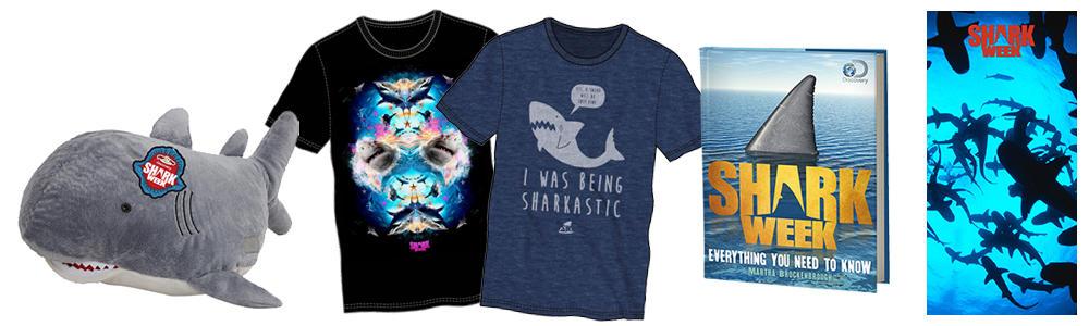shark week pillow, shark week shirts, shark week book, shark week towel