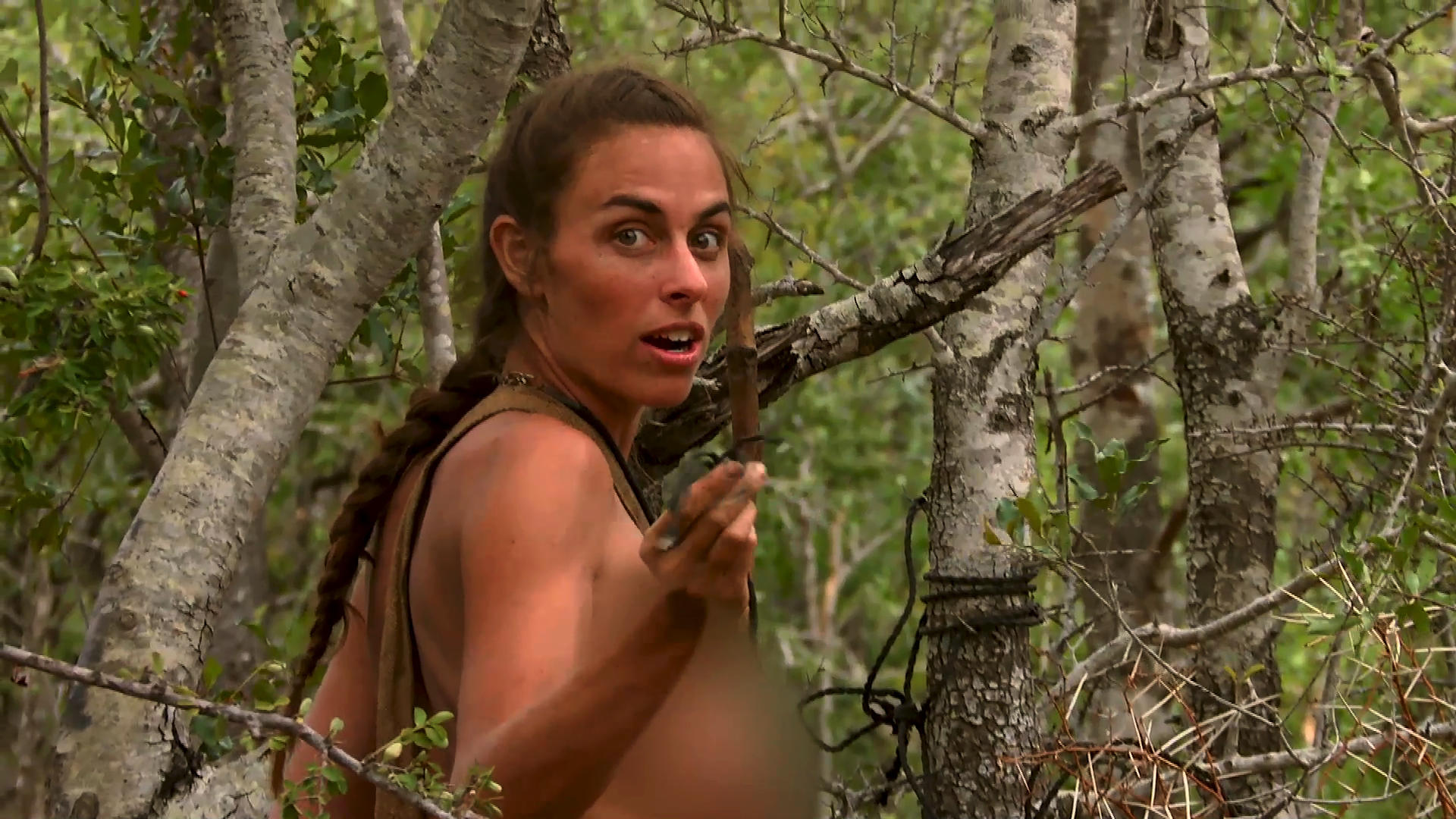 hot naked and afraid woman