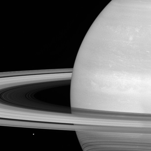 Saturn and Mimas