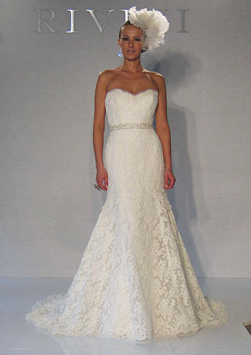 Rivini's Irise gown with sweetheart neckline, priced at $6,820.