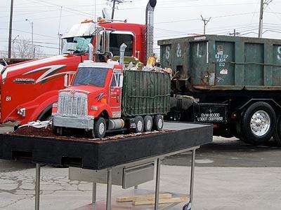 Trash Truck Cake