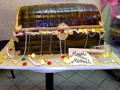 The bakery gets requests for all kinds of cakes, from the traditional to quirky, like this treasure chest cake.