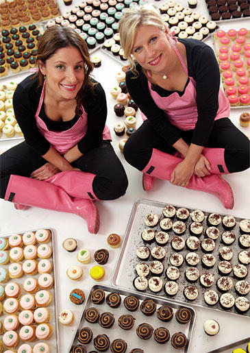 Katherine Kallinis and Sophie LaMontagne from DC Cupcakes are also the authors of