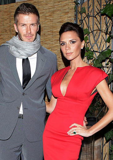 David Beckham stopped playing the field when he met spicy Victoria. Could they be any more glamorous?