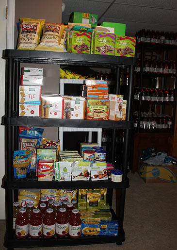 Extreme couponer Callie keeps a special section in her stockpile for organic and healthy food items.