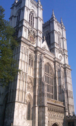 A view of Westminster Abbey.