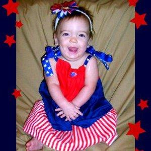 Gracie Elizabeth Corbello 1st 4th of July!