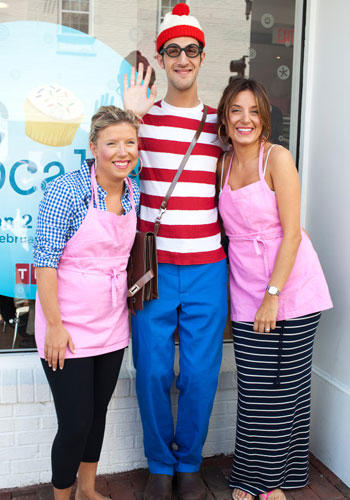 What happens when a pop culture icon and a bakery with a cult following collide? Where's Waldo visited Georgetown Cupcake to have a little fun with sisters Sophie and Katherine! See if you can spot him in these photos.
