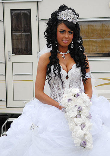Before her wedding, Danielle's priest blessed the trailer where she and Brendan will live.