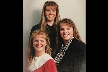 Meet the Sister Wives: Meri, Janelle and Christine (clockwise from top).