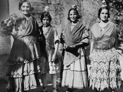 These are Gitano women, gypsies from southern Spain, photographed around 1930.