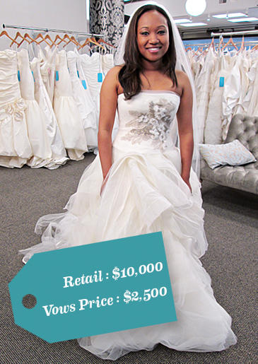 When her wedding venue went out of business, Carolyn lost her deposit -- and a huge chunk of her wedding budget. Though she dreamed of wearing Vera Wang, she needed the gown at a huge discount.