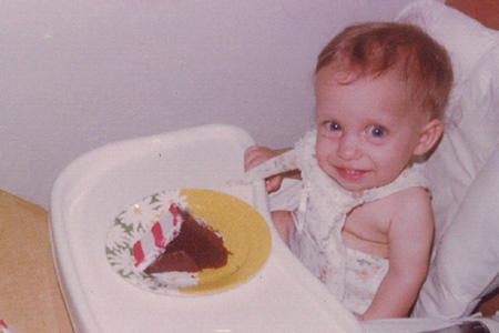 Jen's first birthday.
