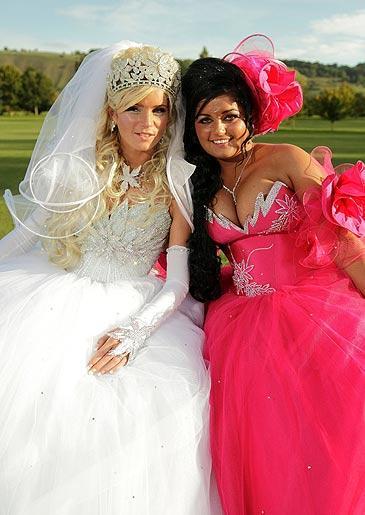 Bridget and Elizabeth at Bridget's wedding in Trowbridge, Wiltshire.