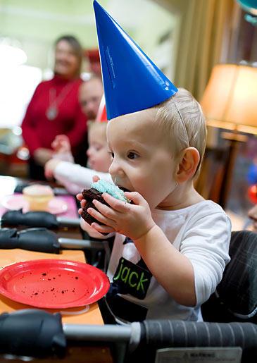Jack's birthday cupcake.