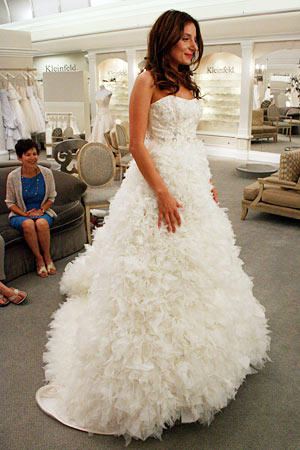 Katherine wanted to look like a cupcake, and she achieved that vision with this full skirt.