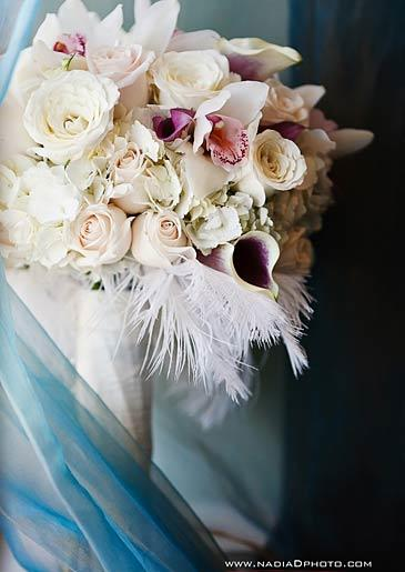 Asha's bridal bouquet.