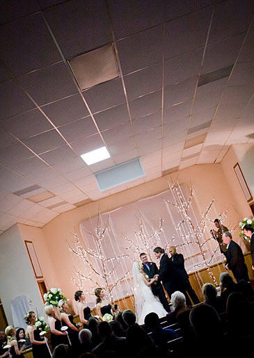 Lindsay and Coty's wedding ceremony. Photo by
