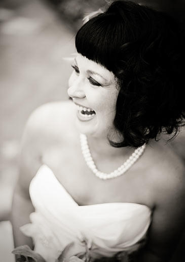 On her wedding day, Tracy wore a pearl necklace given to her mother by her father.