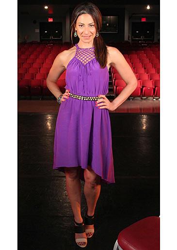 Purple Halter Dress from