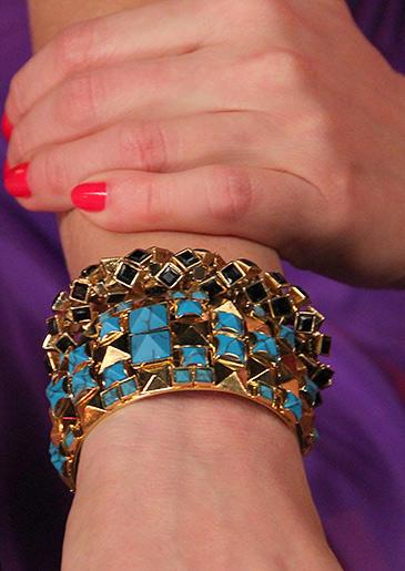 Black/Gold Stretch Bracelet from