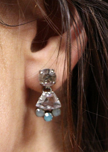 Blue Gem Earrings from