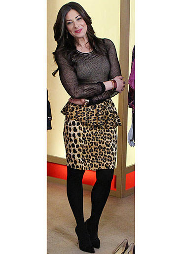 Leopard Peplum Skirt from