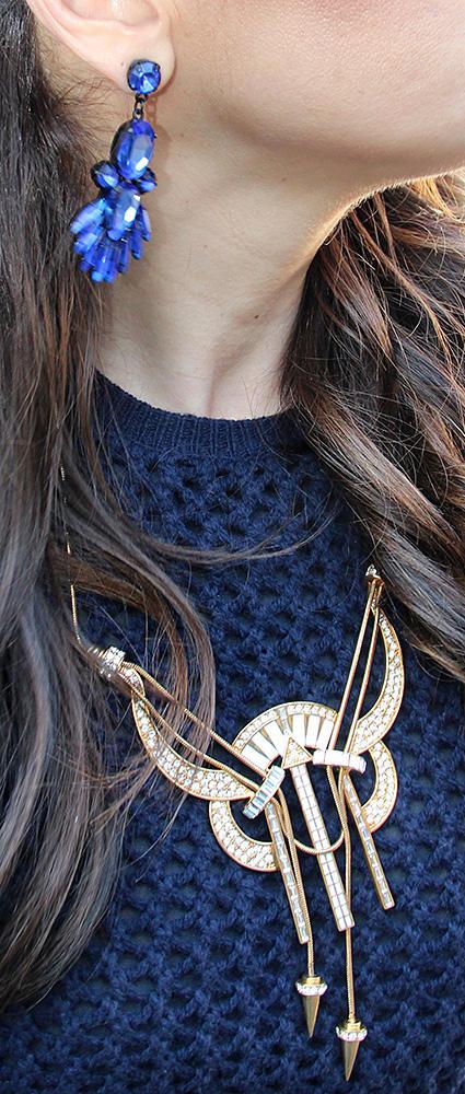 Blue Chandelier Earrings by