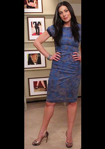 Dress by Gryphon NY/gryphon-ny.com and pumps by Nicholas Kirkwood/nicholaskirkwood.com