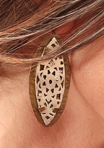 Bronze Earrings from