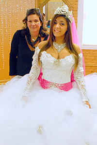 Gypsy wedding gown