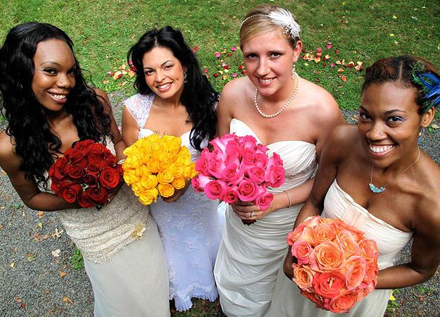 Read More Less Brides Left To Right Dashina Karen Jessica And Alexis