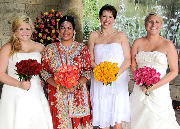 Read More Less Brides Left To Right Anna Nazia Samantha And Shannon