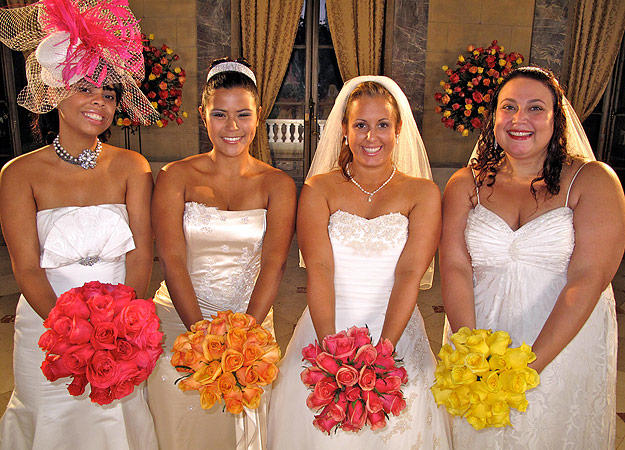 Read More Less Brides Left To Right Karin Kaity Michelle And Jennifer
