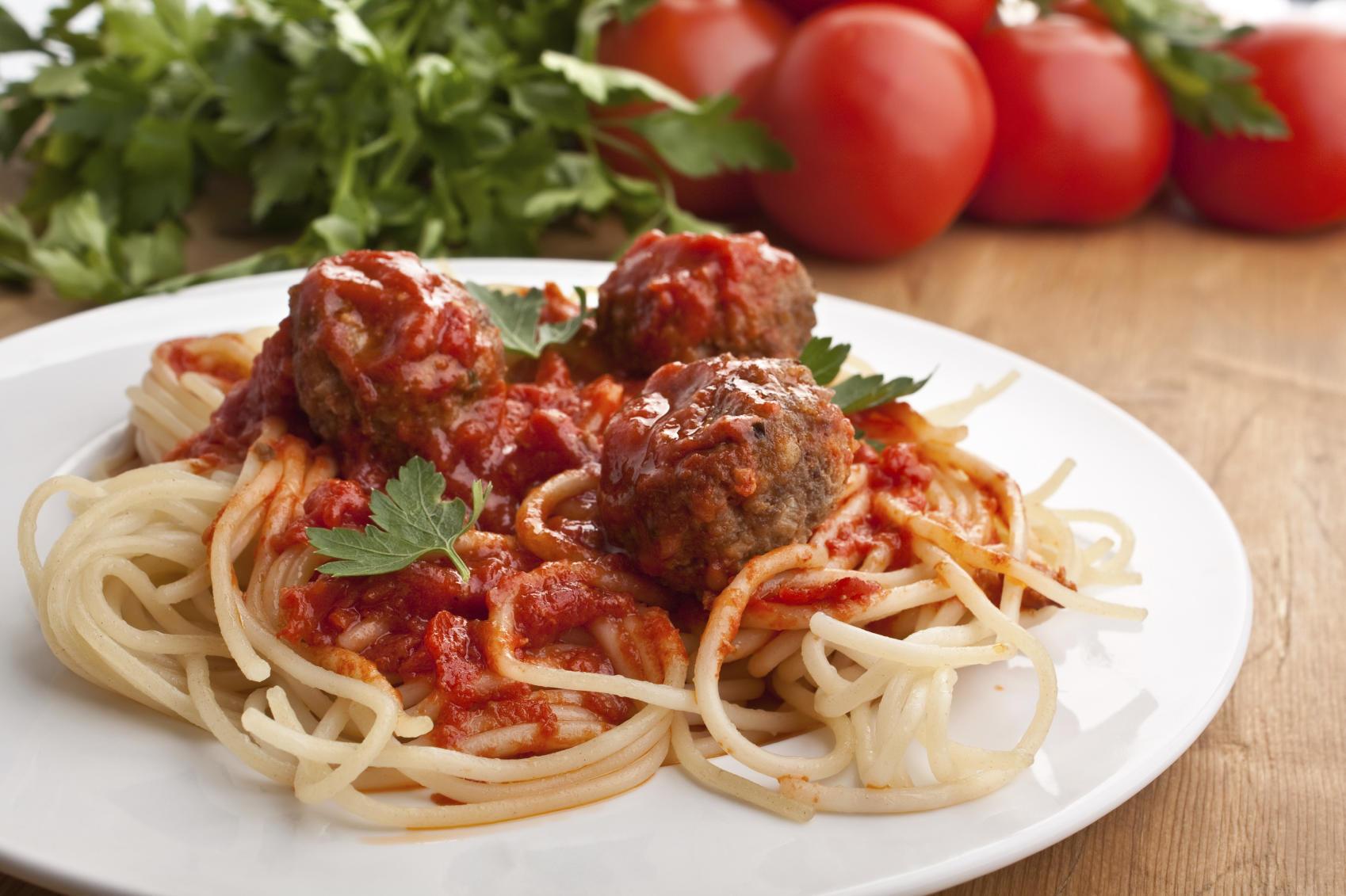 Bobby Flay's spaghetti and meatballs