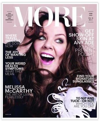Melissa McCarthy on the cover of More magazine