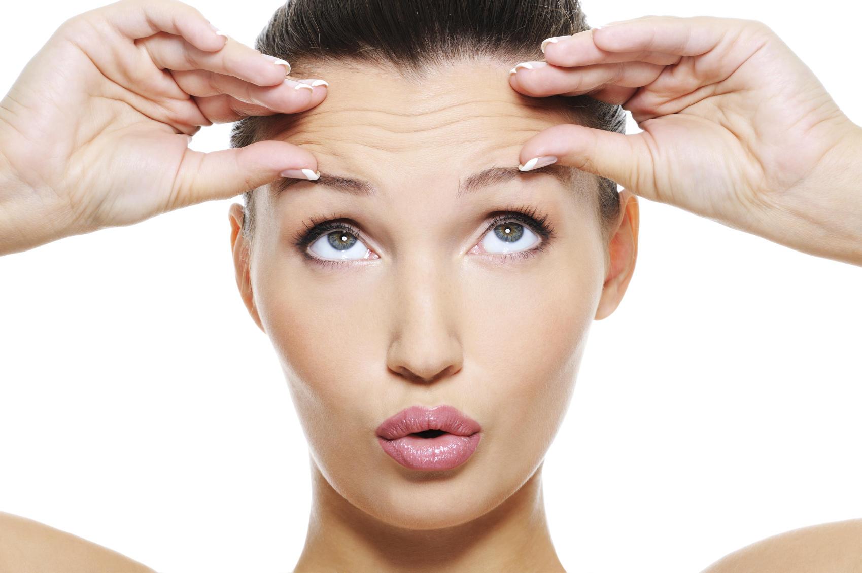 wrinkles woman skin