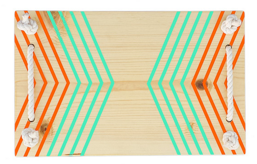 serving tray with chevron pattern