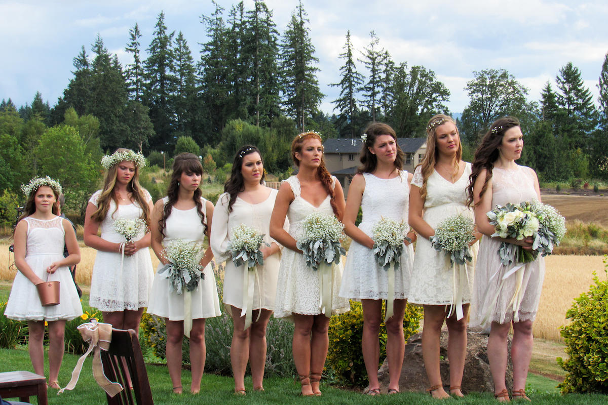 All white bridesmaid dresses tlcme tlc off white bridesmaid dresse lpbw ombrellifo Choice Image