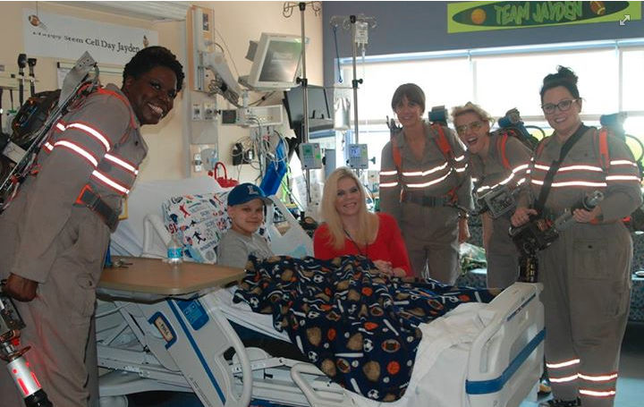 Ghostbusters cast at hospital