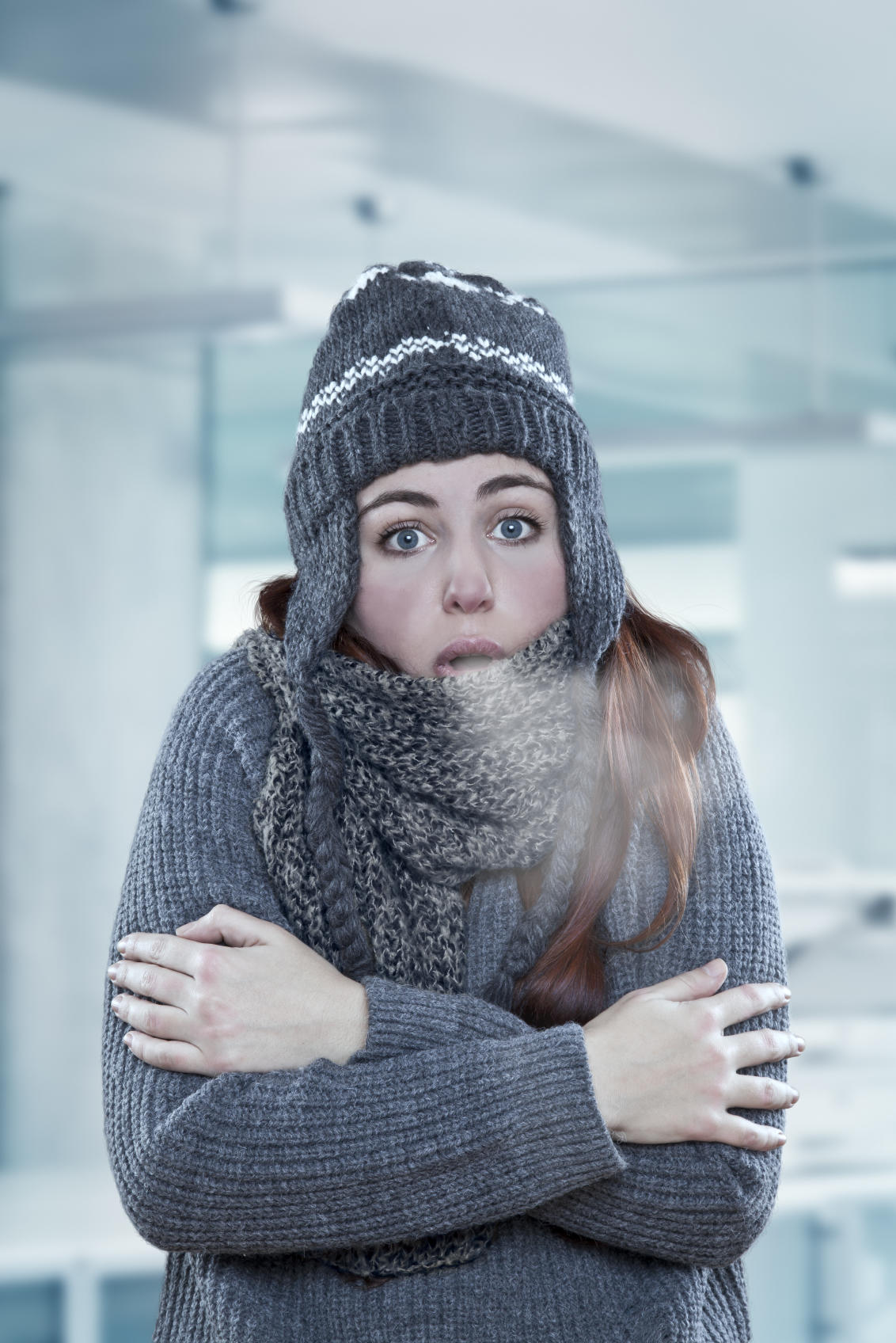 cold-office-woman