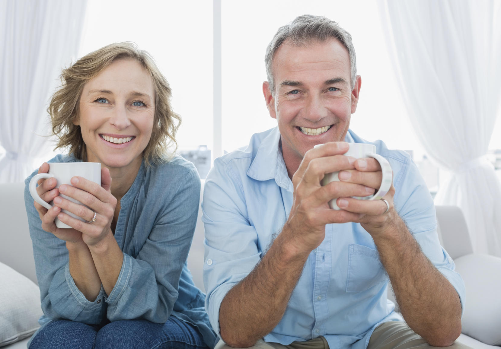 empty nest syndrome couple drinking coffee