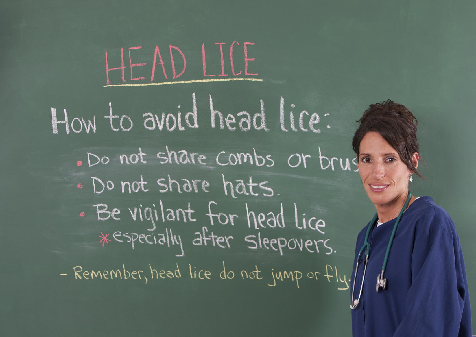 a school nurse with helpful tips about preventing the spread of lice